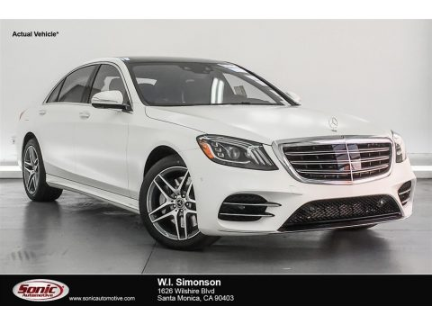 designo Diamond White Metallic Mercedes-Benz S 560 4Matic Sedan.  Click to enlarge.