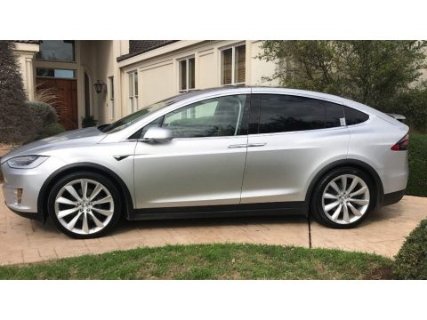 Silver Metallic Tesla Model X 100D.  Click to enlarge.