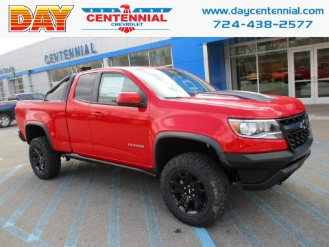 Red Hot Chevrolet Colorado ZR2 Extended Cab 4x4.  Click to enlarge.
