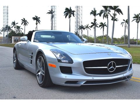 Iridium Silver Metallic Mercedes-Benz SLS AMG Roadster.  Click to enlarge.