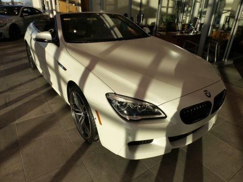 Frozen Brilliant White Metallic BMW 6 Series 650i xDrive Convertible.  Click to enlarge.