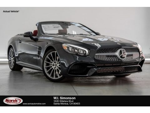 Obsidian Black Metallic Mercedes-Benz SL 550 Roadster.  Click to enlarge.