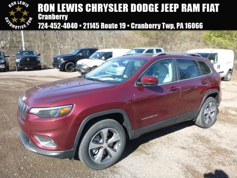 Velvet Red Pearl Jeep Cherokee Limited 4x4.  Click to enlarge.