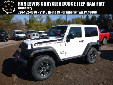 Bright White Jeep Wrangler Rubicon Recon 4x4.  Click to enlarge.