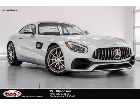 Iridium Silver Metallic Mercedes-Benz AMG GT Coupe.  Click to enlarge.
