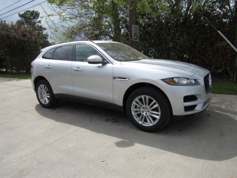 Indus Silver Metallic Jaguar F-PACE 25t AWD Prestige.  Click to enlarge.