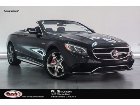 Black Mercedes-Benz S 63 AMG 4Matic Cabriolet.  Click to enlarge.