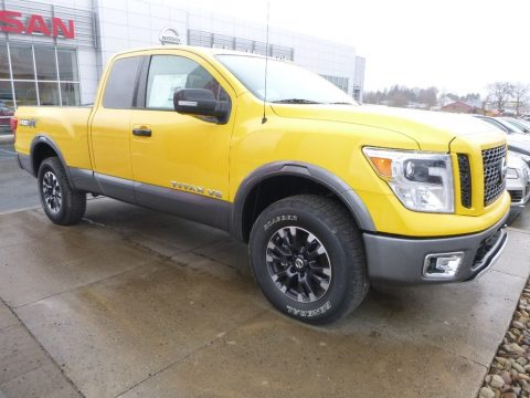 SolarFlare Yellow Nissan Titan PRO-4X King Cab 4x4.  Click to enlarge.