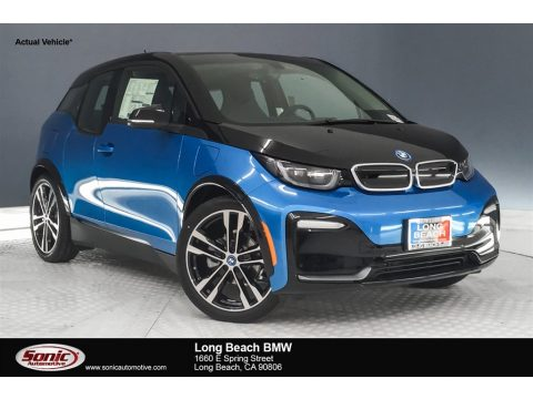 Protonic Blue Metallic BMW i3 S with Range Extender.  Click to enlarge.
