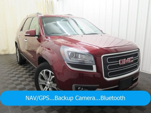 Crimson Red Tincoat GMC Acadia SLT.  Click to enlarge.