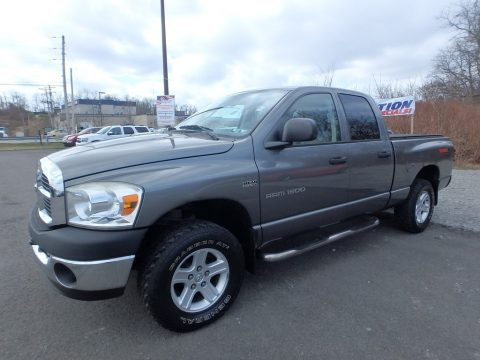 Mineral Gray Metallic Dodge Ram 1500 SLT Quad Cab 4x4.  Click to enlarge.