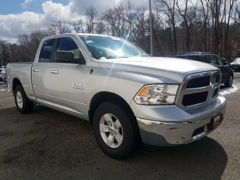 Bright Silver Metallic Ram 1500 SLT Quad Cab 4x4.  Click to enlarge.
