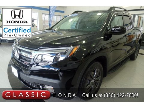 Crystal Black Pearl Honda Ridgeline Sport AWD.  Click to enlarge.