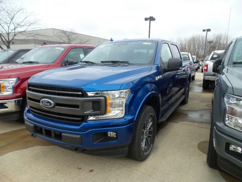 Lightning Blue Ford F150 XLT SuperCrew 4x4.  Click to enlarge.