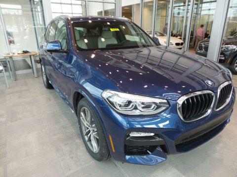 Phytonic Blue Metallic BMW X3 xDrive30i.  Click to enlarge.