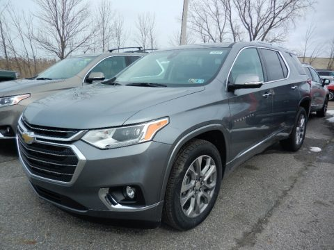 Satin Steel Metallic Chevrolet Traverse LT AWD.  Click to enlarge.