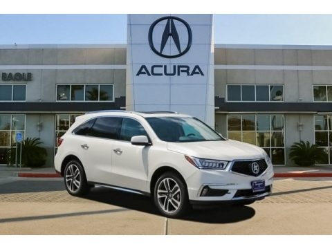 White Diamond Pearl Acura MDX .  Click to enlarge.