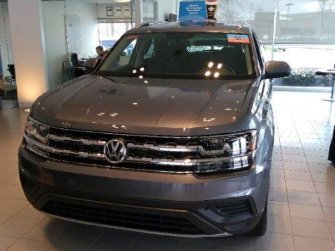 Platinum Gray Metallic Volkswagen Atlas S 4Motion.  Click to enlarge.