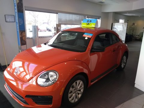 Habanero Orange Metallic Volkswagen Beetle 1.8T S Coupe.  Click to enlarge.