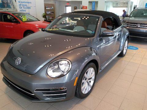 Platinum Gray Metallic Volkswagen Beetle 1.8T S Convertible.  Click to enlarge.