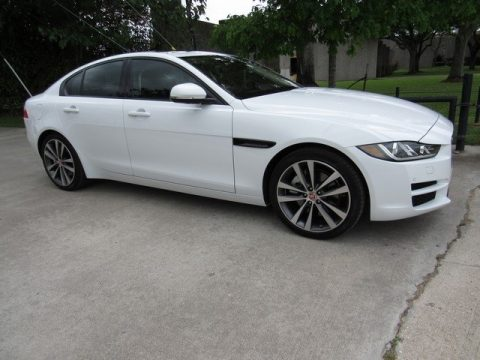 Polaris White Jaguar XE 25t Prestige.  Click to enlarge.