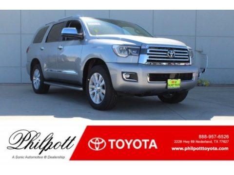 Silver Sky Metallic Toyota Sequoia Platinum.  Click to enlarge.