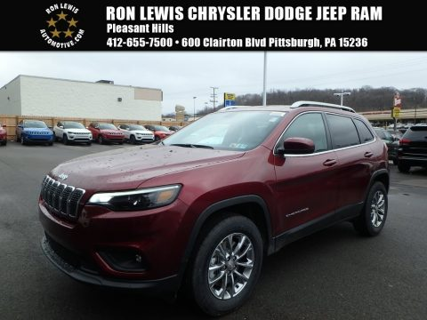 Velvet Red Pearl Jeep Cherokee Latitude Plus 4x4.  Click to enlarge.