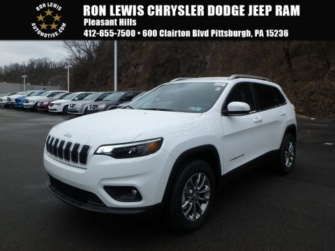 Bright White Jeep Cherokee Latitude Plus 4x4.  Click to enlarge.