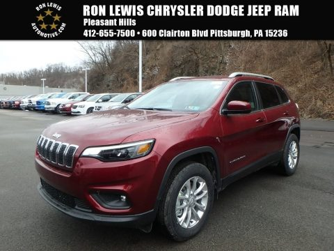 Velvet Red Pearl Jeep Cherokee Latitude 4x4.  Click to enlarge.