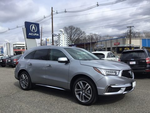 Lunar Silver Metallic Acura MDX Advance SH-AWD.  Click to enlarge.