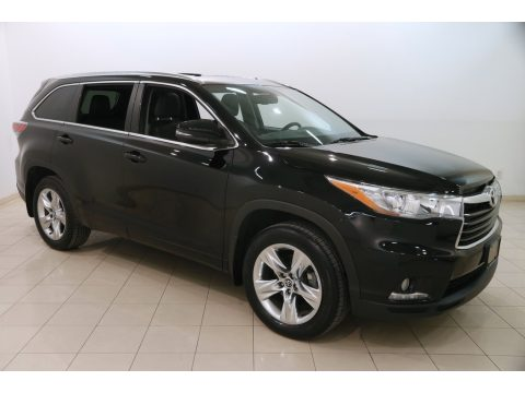 Midnight Black Metallic Toyota Highlander Limited AWD.  Click to enlarge.