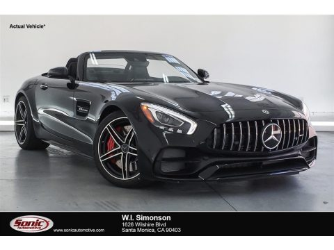 Black Mercedes-Benz AMG GT C Roadster.  Click to enlarge.