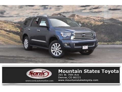 Shoreline Blue Pearl Toyota Sequoia Platinum 4x4.  Click to enlarge.