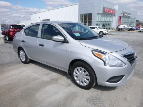 Brilliant Silver Nissan Versa S Plus.  Click to enlarge.