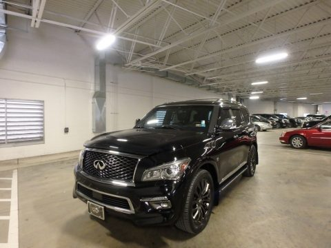 Black Obsidian Infiniti QX80 Limited AWD.  Click to enlarge.