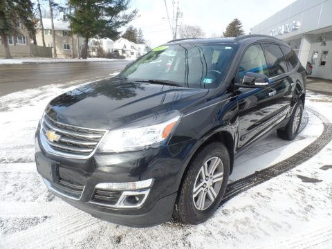 Mosaic Black Metallic Chevrolet Traverse LT AWD.  Click to enlarge.