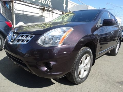 Black Amethyst Nissan Rogue S AWD.  Click to enlarge.