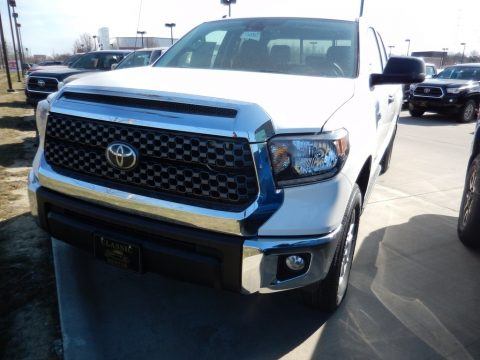 Super White Toyota Tundra SR5 Double Cab 4x4.  Click to enlarge.