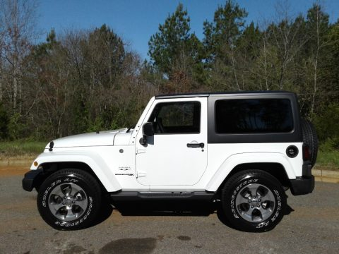 Bright White Jeep Wrangler Sahara 4x4.  Click to enlarge.