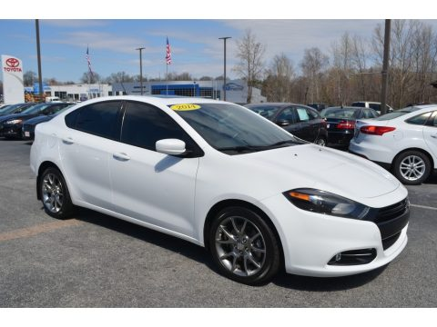 Bright White Dodge Dart SXT.  Click to enlarge.
