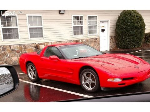 Torch Red Chevrolet Corvette Coupe.  Click to enlarge.