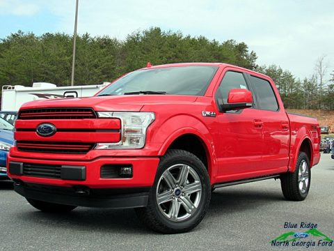 Race Red Ford F150 Lariat SuperCrew 4x4.  Click to enlarge.