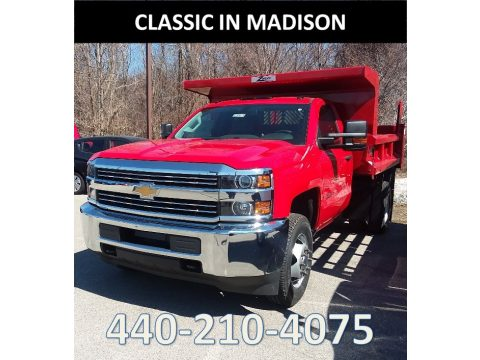 Red Hot Chevrolet Silverado 3500HD Work Truck Regular Cab 4x4.  Click to enlarge.