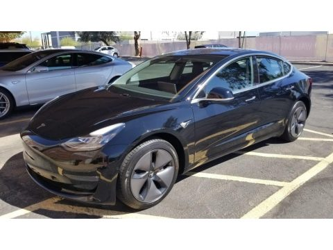 Black Tesla Model 3 Long Range.  Click to enlarge.