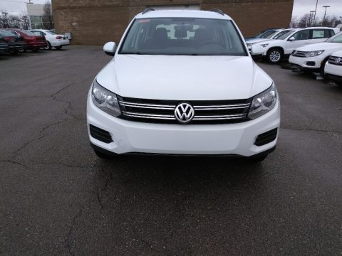 Pure White Volkswagen Tiguan Limited 2.0T 4Motion.  Click to enlarge.