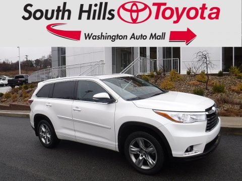 Blizzard Pearl Toyota Highlander Limited AWD.  Click to enlarge.