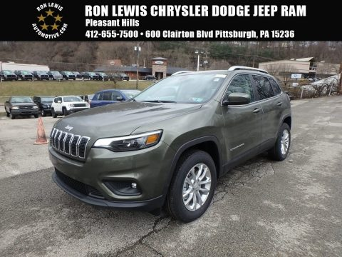 Olive Green Pearl Jeep Cherokee Latitude 4x4. Click To Enlarge.