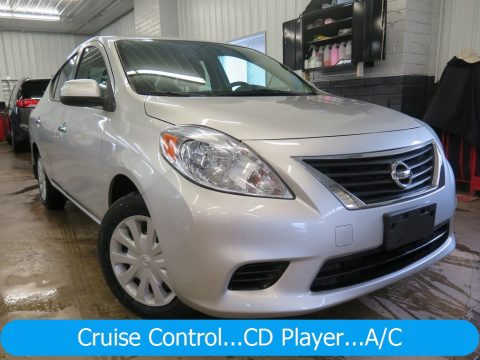 Brilliant Silver Nissan Versa 1.6 S Sedan.  Click to enlarge.
