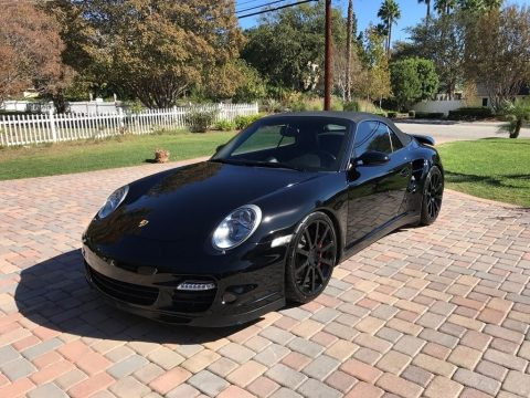 Black Porsche 911 Turbo Cabriolet.  Click to enlarge.