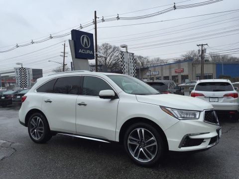 White Diamond Pearl Acura MDX Advance SH-AWD.  Click to enlarge.